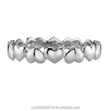 Petite Eternity Heart Ring