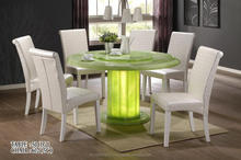 Full Marble / Green Crystal Round Dining Table