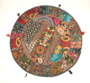Indian Green Flloor Round Throw cushions Indian Pillow covers Indian Decorative floor cushions