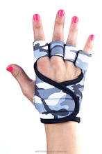 Camo Print Fitness Gloves for Girls / Neoprene Customize Weightlifting Gloves / Gym Workout Gloves