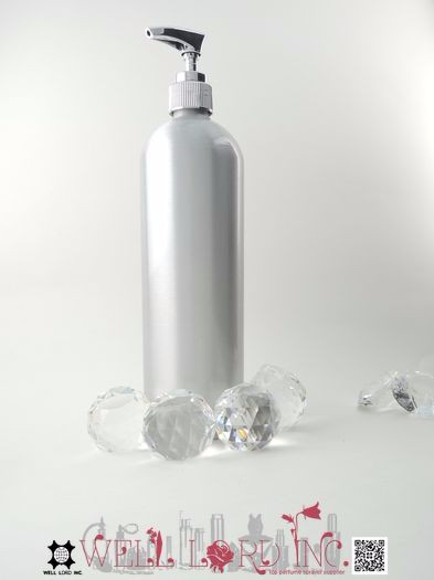 Hot sale spray painting empty 650ml silver aluminum bottle