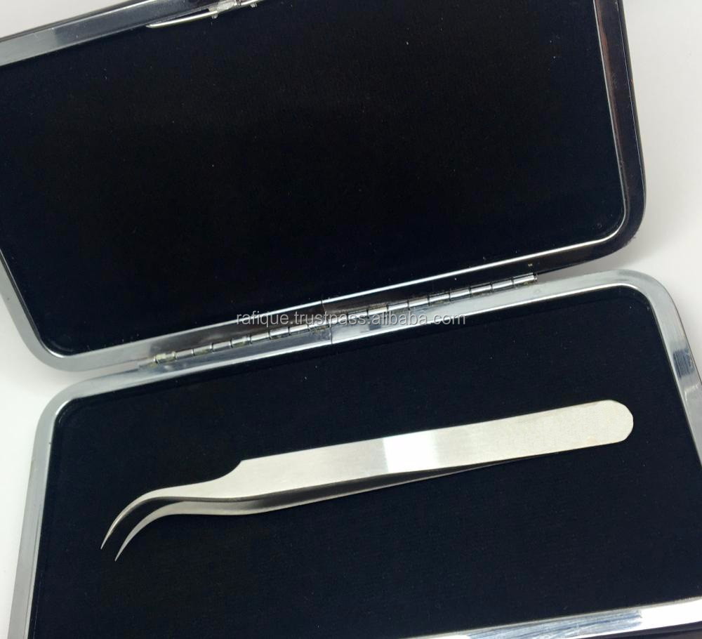 Golden Eyelash Tweezers Kit / Eyelash Tools Case From Rafique