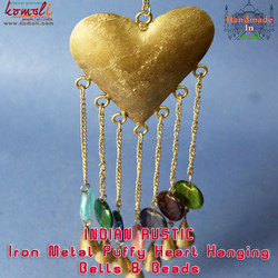 Metal Craft Puffy Hanging Heart wedding souvenir gifts