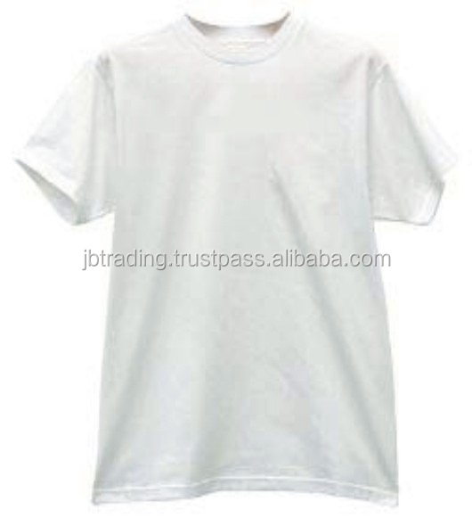 india low price white men's cotton crew neck tshirt