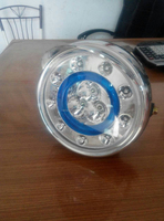 new type blue circle led 3 bulb headlight