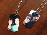 Metal Photo Dual Key Chains