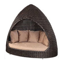 Product HOT SALE!!!poly rattan stackable furniture sofa durable fashion big round sofa