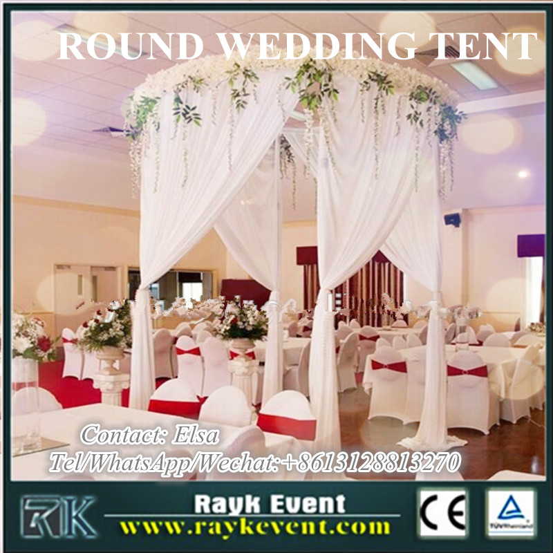 RK curved pipe and drape for round wedding party tents for sale made in China factory