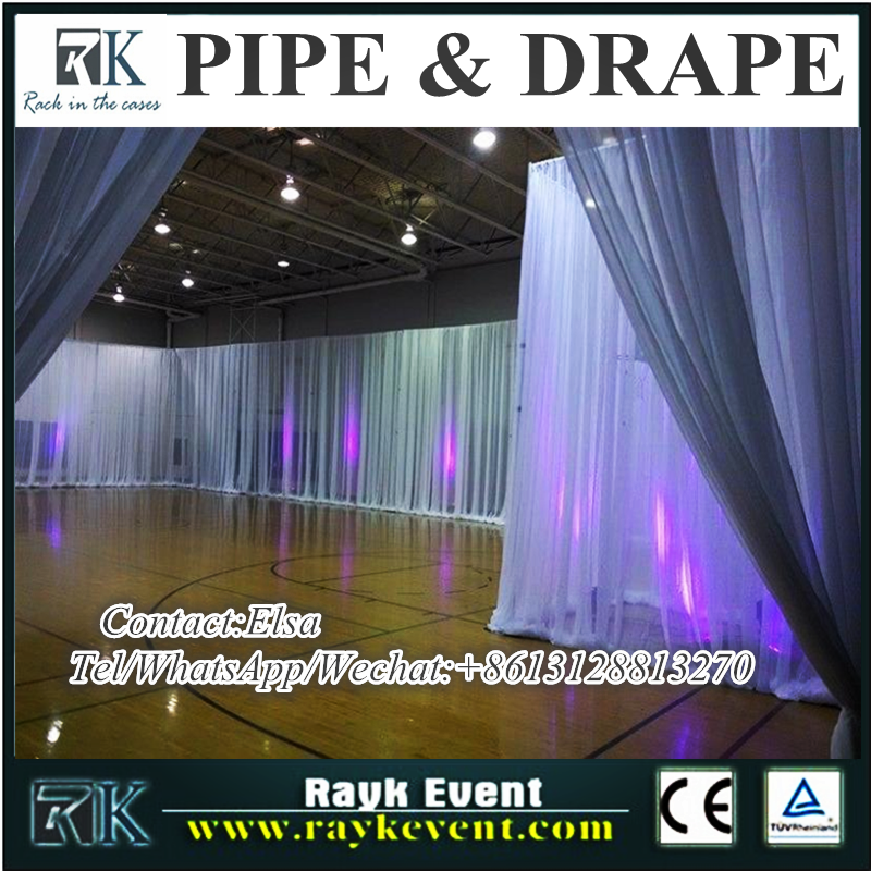 2016 New products wholesale backdrop/pipe and drape/exhibition booth for hall decoration