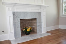 White Marble Cheap Fireplace
