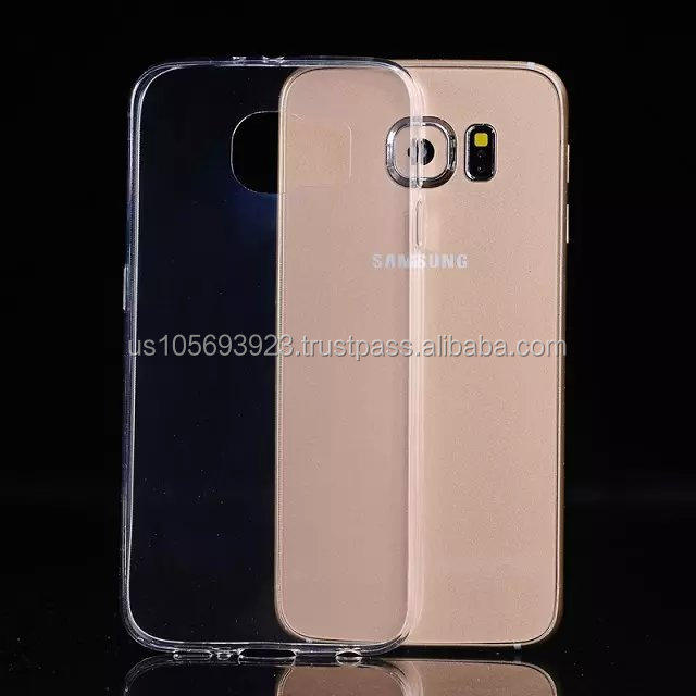 Ultra Slim TPU Crystal Clear Soft Clear Case for Samsung Galaxy S6 5 Colors 0.3mm