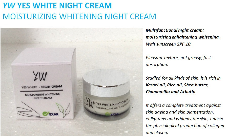 Skin whitening cream/ Lightening Face Skin Cream/ skin light cream price from Exar, italy made day and night ligthening creams