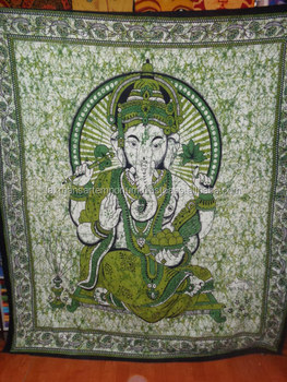 indian ganesha printed tapestry new