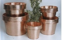 Copper pot,flower pots, assorted planter sizes sets of 5 ,