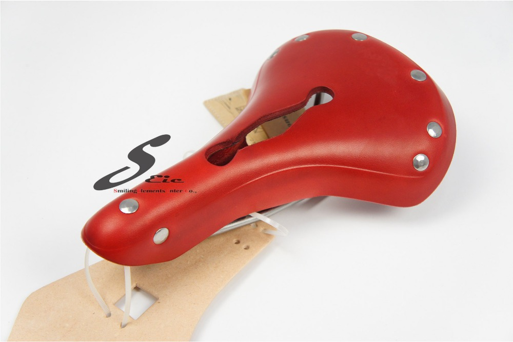 Taiwan made Classic Leather Bicycle Saddle