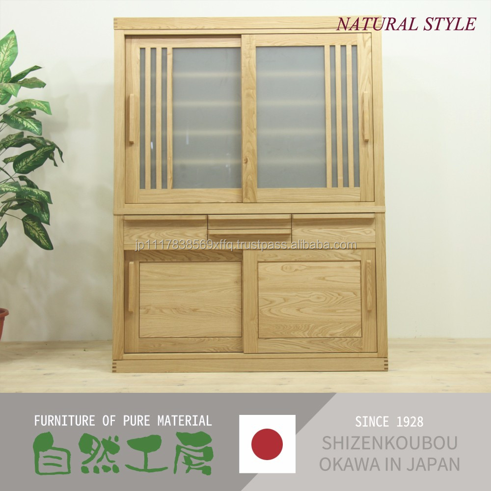 Durable and Easy to use home kitchen furniture with various kind of wood made in Japan