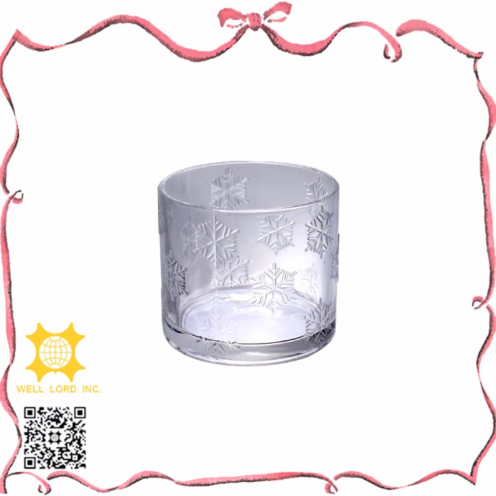 Adorable item must buy transparent leaves pattern glass candle holder