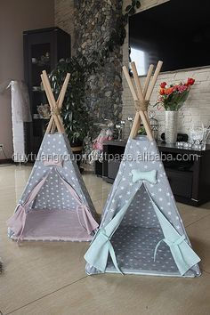 Teepee dog house kennel for dogs