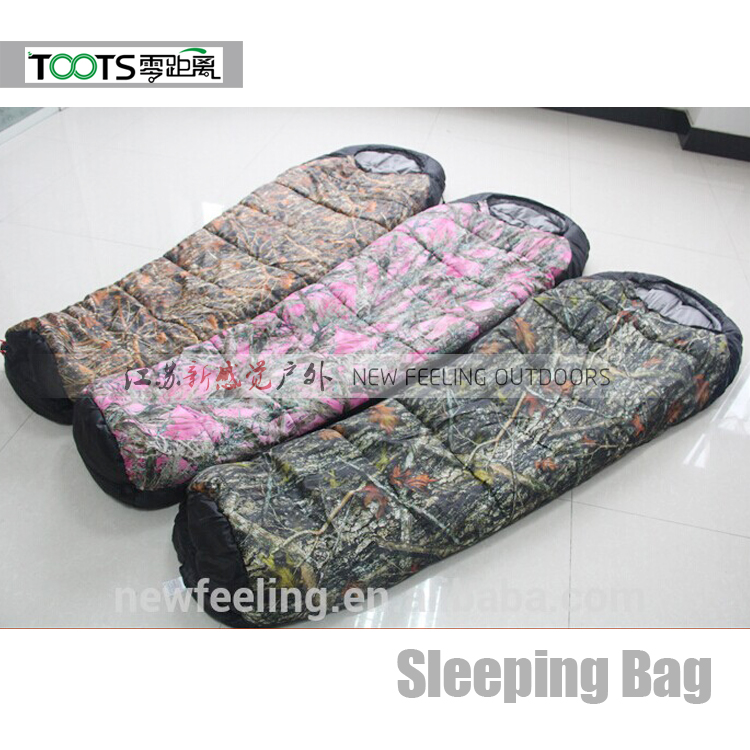 Camouflage Military Sleeping Bag with Mesh