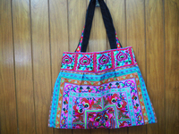 Thailand handmade festival hmong JUMBO fabric Tote Bag hmong hill tribe bags wholesale