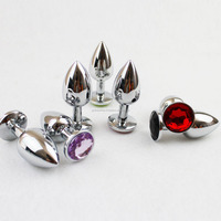 Butt Toy Plug Anal Insert Stainless Steel Metal Plated Jeweled Sexy Stopper Sex Toy 41