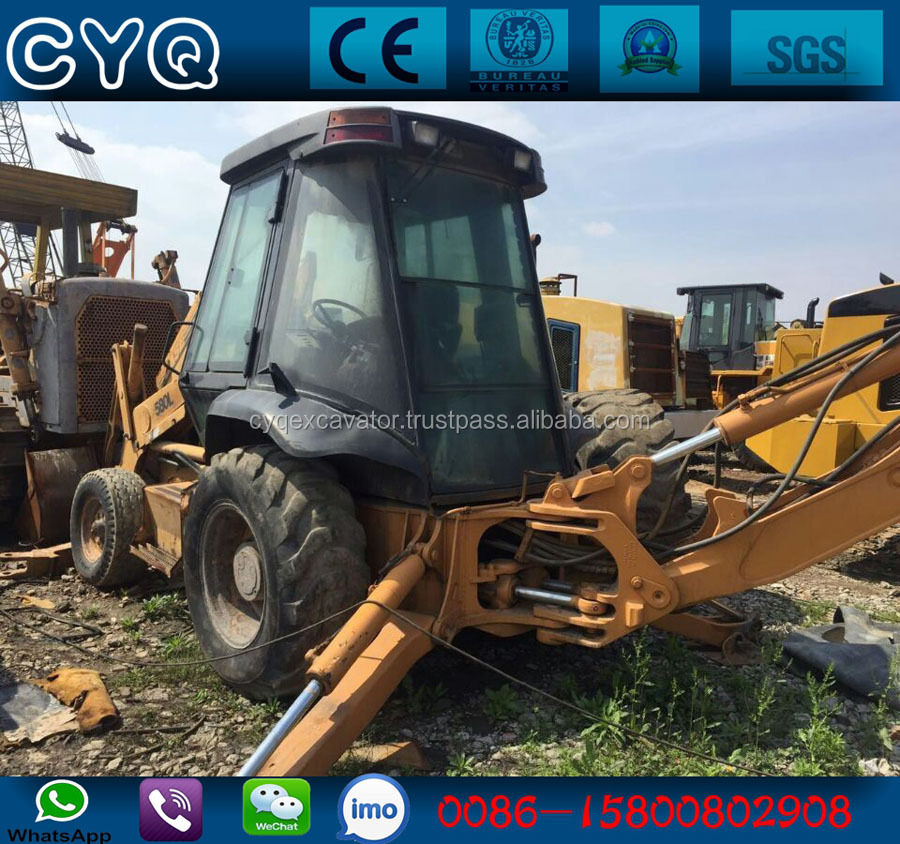 Used Case backhoe loader CASE 580L skid steer loader for sale (whatsapp: 0086-15800802908)