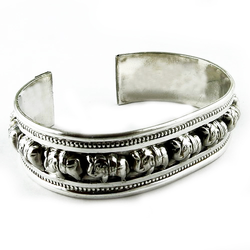 Elephant Design Oxidized Plain Silver 925 Sterling Silver Bangle, Wholesale Silver Jewelry, Fine Silver Jewelry