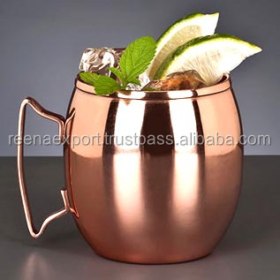Promotional Stainless Steel Moscow Mule Mugs in Copper