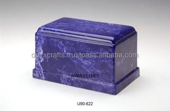 Dark Blue Rectangle Cremation Urns in Cheap Low Cost