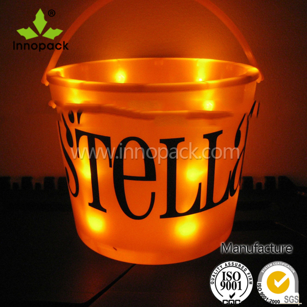 2L festival led lighted halloween bucket