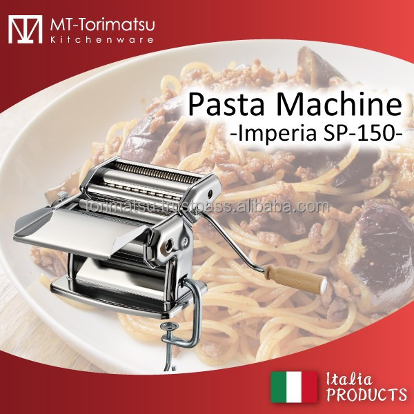 Italy Pasta Maker All Stainless Steel Body And Some Variation Cutting Blade Has