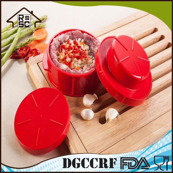 FDA & LFGB Approved Hamburger Press,Plastic Hamburger Press BPA Free,Manual Hamburg Patty Maker