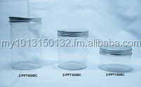 Plastic Jar with Silver Aluminium Screw Cap