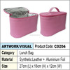PU Leather Lunch Bag / lunch cooler bag