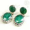 Large !! Fashion Emerald Silver Wholesale Earring /Awesome 925 Gemstone Silver Jewelry /Indian 925 Hallmark Jewelry ERCT1177-8