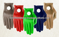 Colored cabretta leather golf gloves coloured leather gents golf gloves