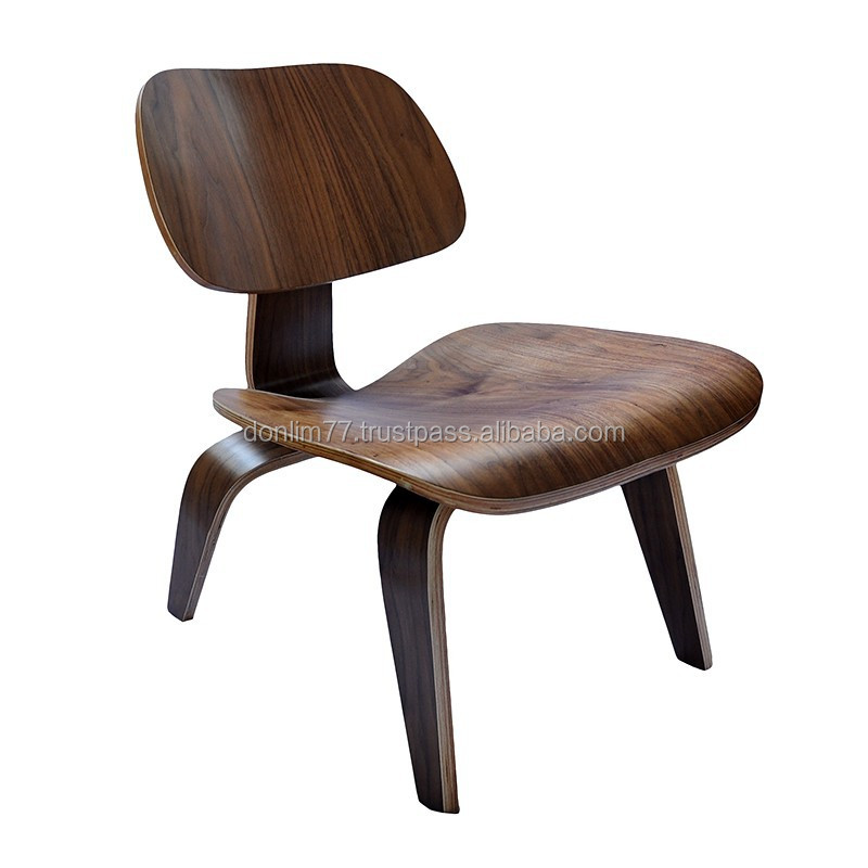 X 6004A Leisure chair with Black walnut veneer surface and color fabric surface