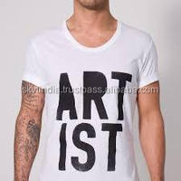 text printed simple logo design printed promotional tshirt