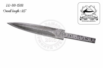 Damascus Steel Knife Blade Blank DD-BB-1503
