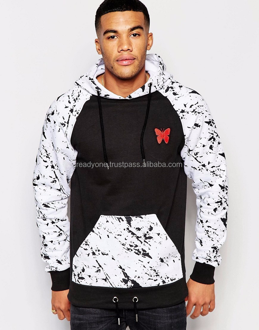 Ready one factory custom men stylish hoodie hipster soft-touch velour mens pullover hoodies