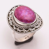 Solid 925 Silver Ring Natural Pink