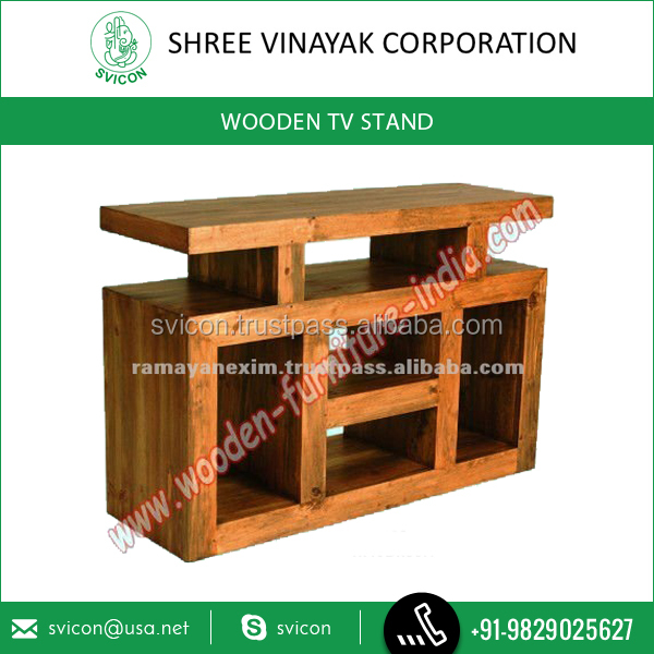 Classic Style Wooden TV/DVD/VCD Stand with Multiple Sections