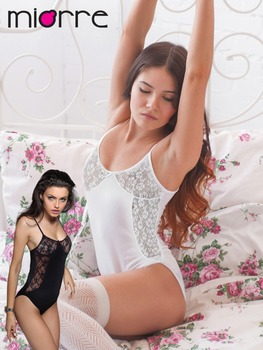 MIORRE SLEEVELESS WOMEN FANTASY BODYSUIT WITH LACE & SNAP