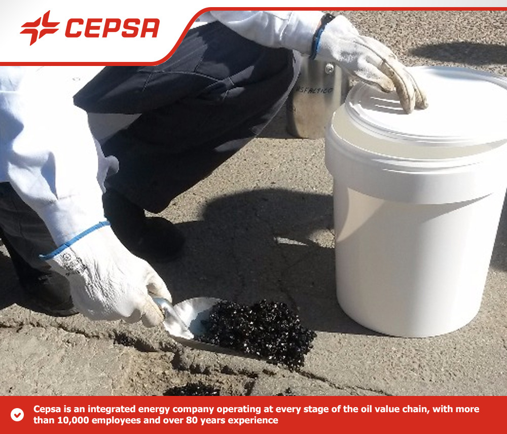 Cold Mix Asphalt CEPSA - 25kg Drum or 1000kg Big Bag