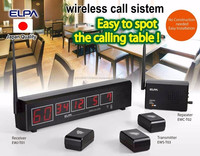 Reliable and Durable table bell Wireless call with multiple functions made in Japan