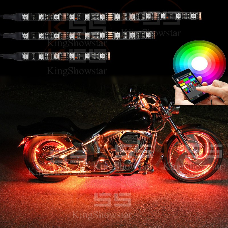 Add-On Classic Single Color Flexible Motorcycle LED Lights Durable super bright led motorcycle light kit