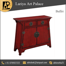 Attractive Red Color Buffet with Two Door Storage at Reliable Price