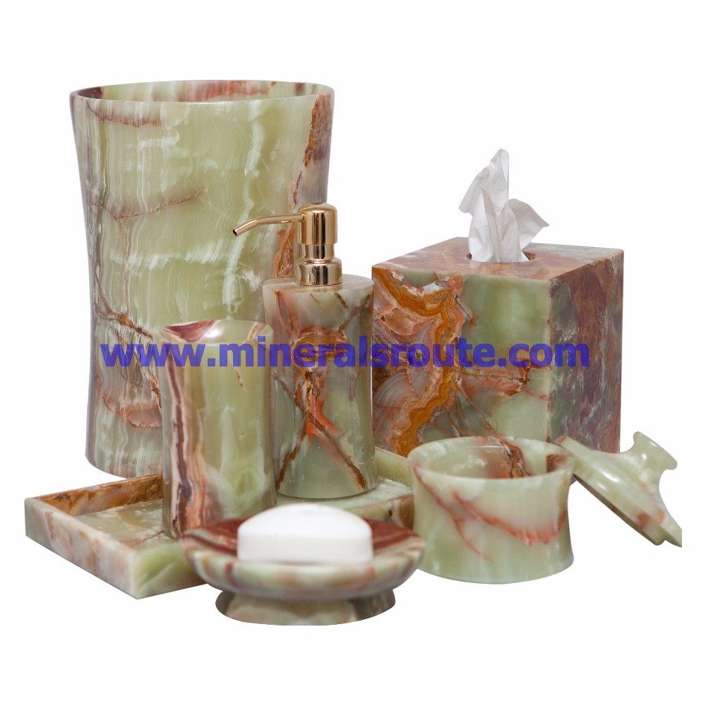 Onyx Marble Bathroom Accessories