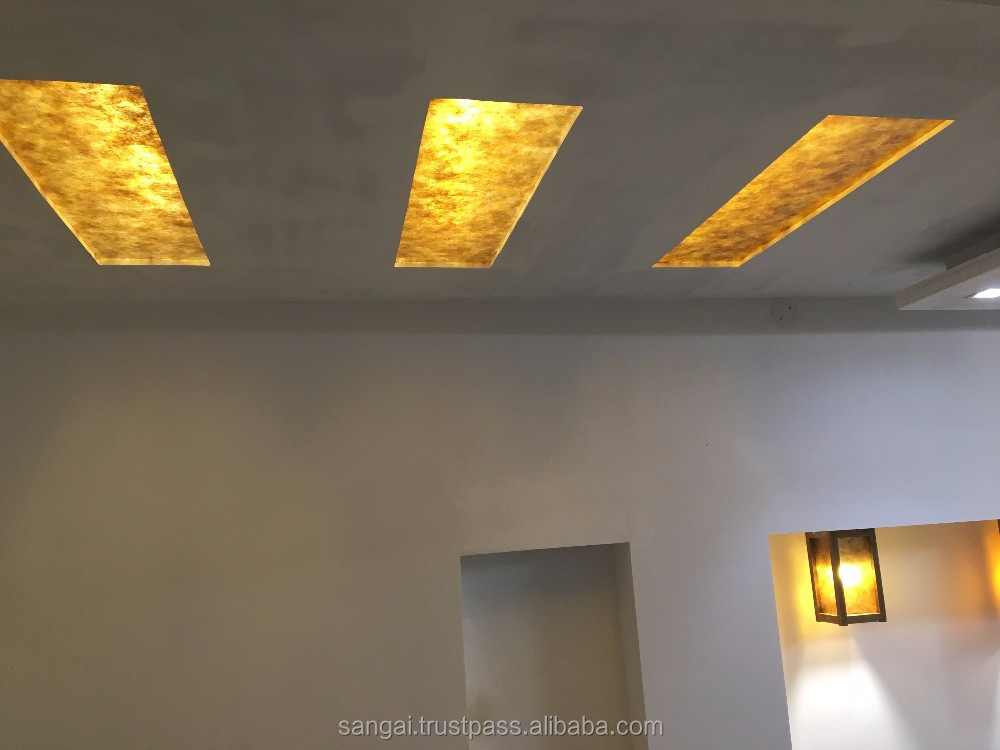 Mica tiles for designer false ceiling