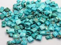Superb!!! Natural Arizona Turquoise Square Shape Beads for Bracelet Setting 187 Pcs 5X6MM 9MM